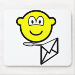 Letter opening buddy icon   mousepad