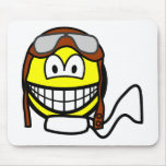 Pilot smile Old fashioned  mousepad