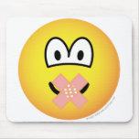 Silent emoticon   mousepad