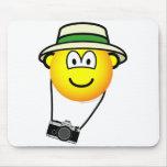 Tourist emoticon   mousepad