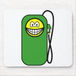 Gas station smile Petrol pump  mousepad