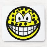 Leopard smile   mousepad