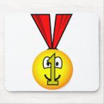 Medal emoticon   mousepad