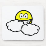 Partly cloudy smile   mousepad