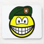 Green beret smile   mousepad