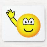 Bye emoticon waving  mousepad