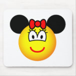 Minnie Mouse emoticon   mousepad