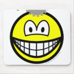 Thinking smile Cogs  mousepad