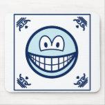 Delft blue smile   mousepad