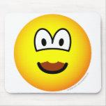 Chocolate mustache emoticon   mousepad