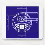 Blueprint smile   mousepad