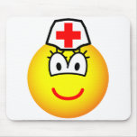 Nurse emoticon   mousepad