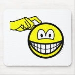 Head scratching smile   mousepad