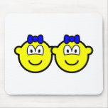 Identical twin buddy icon Boys  mousepad