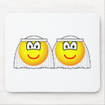 Gay Marriage emoticons Female  mousepad