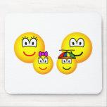 Family emoticon   mousepad