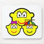 Single mother buddy icon   mousepad