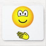 Paper emoticon rock - paper - scissors  mousepad