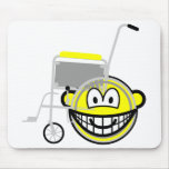 Wheelchair buddy icon Side view  mousepad