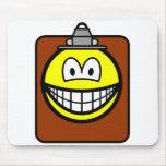 Clipboard smile   mousepad