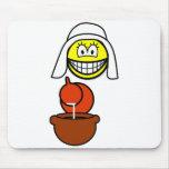 Dutch milk maid smile   mousepad