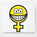 Female smile   mousepad
