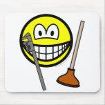 Plumber smile   mousepad