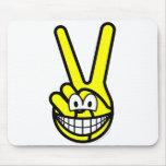 Peace sign smile   mousepad