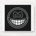 Black hole smile   mousepad