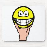 Hand held smile   mousepad