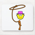 Cowgirl buddy icon lasso  mousepad