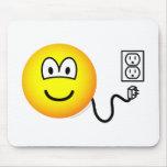 Unplugged emoticon Sad  mousepad