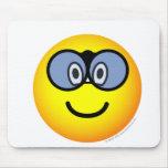 Verrekijker emoticon   mousepad