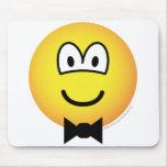 Bow tie emoticon   mousepad