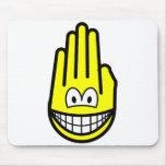 Hand smile   mousepad