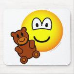 Teddy bear toy emoticon   mousepad