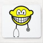 Doctor smile Stethoscope  mousepad