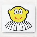 Ballerina buddy icon   mousepad