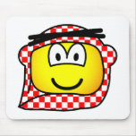 Jordan head cap emoticon   mousepad