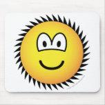 Circle saw emoticon   mousepad