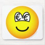 Euro eyed emoticon   mousepad
