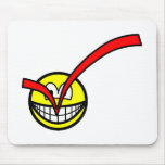 Checked smile voting  mousepad