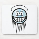 Cool smile With snow  mousepad