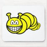 Caterpillar smile   mousepad