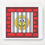 Jailed emoticon   mousepad