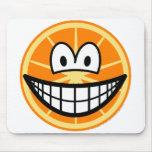 Orange smile   mousepad