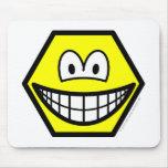 Hexagon smile   mousepad