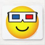 3D glasses emoticon   mousepad