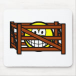 Fenced in smile   mousepad