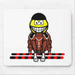 Horse show jumping smile Olympic sport Equestrian mousepad